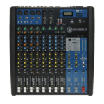 Mixer 12 canali con effetti. gruppi, compressori, fader
